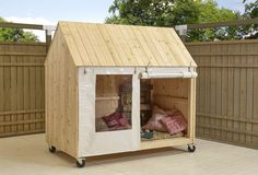 Furniture Designs with Re purposed Pallets – Pallet Projects Cubby Houses, Dog Houses, Play Houses, Pallet Furniture, Furniture Design, Portable Shelter, Pallet Playhouse, Pallet House, Pallet Projects
