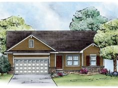 ePlans Ranch House Plan – Simply Craftsman – 1265 Square Feet and 3 Bedrooms from ePlans – House Plan Code HWEPL76353