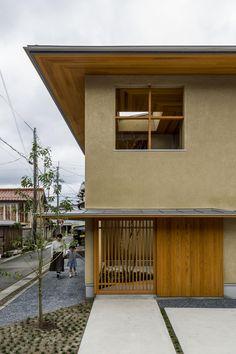 Kyomachi House, Shiga, Japan, by Hearth Architects Japanese Architecture, Residential Architecture, Contemporary Architecture, Japanese Home Design, Japanese House, Japanese Modern, Shiga, Karuizawa, Zen House