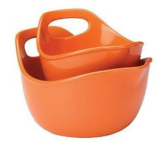 Rachael Ray Stoneware 2-piece Mixing Bowl Set - Love these! Dishwasher, microwave, and freezer safe. And the bonus - oven safe to 500 degrees!