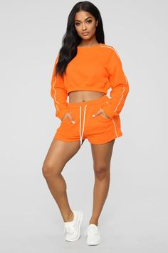 Forever Yours Active Bottoms - Orange Sewing Shorts, Sewing Baby Clothes, Maternity Tunic, Forever Yours, Simple Shirts, Dress Shapes, Simple Dresses, High Fashion, Gym Shorts Womens