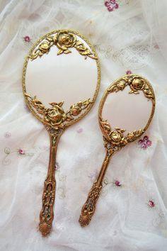 Stunning Vintage Mirror and Brush Set