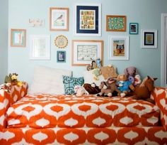 Pictures and color on wall