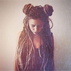 Dreads and Space Buns - two of my favourite things together in one!!                                                                                                                                                                                 Plus