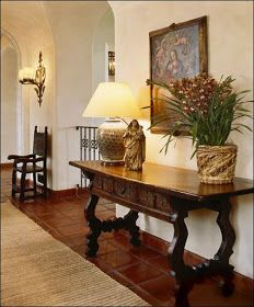 Thank you so very much for all your kind comments on Spanish Colonial Architecture. I hope that you will now enjoy Spanish Colonial interior. Spanish Colonial Decor, Spanish Style Decor, Spanish Interior, Colonial Style Homes, Spanish Style Homes, Spanish Revival, Hacienda Decor, Hacienda Style, Home Fashion