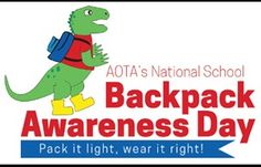 Today is National School Backpack Awareness Day! Toothbrushes are light & can fit almost anywhere National School, Today Is National, Occupational Therapist, Health Fair, Pediatric Ot, Event Planning Tips, Chiropractic Care, School Backpacks