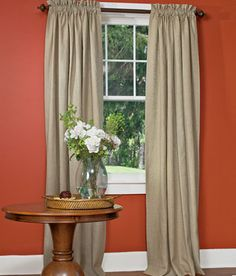 Soft Linen Lined Rod Pocket Curtains in ivory - Country Curtains