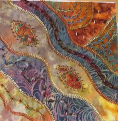 I ❤ crazy quilting & embroidery . . . Crazy Embellishment 002 ~By Lisabrod