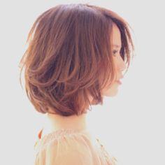#bob #perm #side #medium #hairstyle #Japanese
