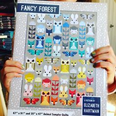 We have Fancy Forest quilt patterns in stock!! Just a few left!