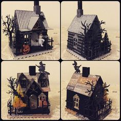 Continue work on more #vintageinspired #putz #paperhouses …   Flickr