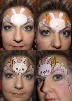 Debz Faces - Easter bunny design tutorial