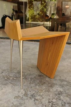 FASE Stool, designed for the Mexican furniture brand VROK Mexican Furniture, Funky Furniture, Unique Furniture, Contemporary Furniture, Furniture Design, Art Furniture, Bureau Design, Muebles Art Deco, Cool Chairs