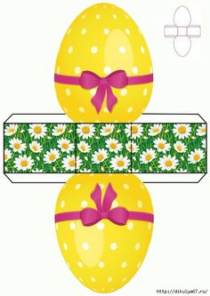 23 (495x700, 191KB) Easter Egg Crafts, Bunny Crafts, Easter Party, Easter Gift, Diy Gift Box, Diy Gifts, Diy And Crafts, Crafts For Kids, Paper Box Template