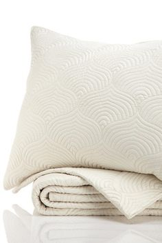 SXYZ Cosmic Wave Collection Coverlet Set - Smooth Pearl by Luxury Sheets and Bedding on @HauteLook
