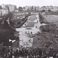 """בוקר טוב! היום בתל אביב עשרים ושש מעלות☀️מזהים את הגן המצולם כאן ביום חנוכתו?זולטן קלוגר, לע""""מ #ilovetlv #nostalgia #telaviv #tlv"""