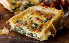 Bacon, Spinach & Cheese Tart - This tart is delicious hot or cold. If ...