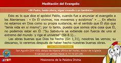 """MISIONEROS DE LA PALABRA DIVINA: MEDITACIÓN DEL EVANGELIO - """"Mi Padre, hasta ahora,..."""