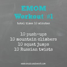 EMOM workout |sneaks and sweets|