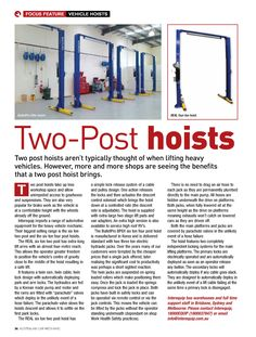 Features and benefits of two post #hoist
