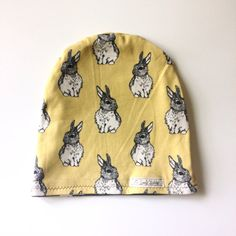Reversible beanie made from our Wild and Wonderful West Virginia print and visitors from the fall collection! Both fabrics are organic stretch knit