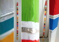 Radio Stripes - Evan Silberman NYC - Painted Tobacco Stick