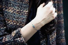 Three tonal shades of blue are more than the sum of their parts in this delicate bracelet. Make one bracelet with all three colors or use each stone to create three separate layering bracelets in a mashup of colors. Sometimes the chicest bracelet stack is the tiniest. Feel free to share if you're feeling generous.