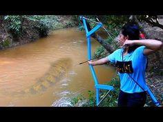 Amazing Girl Uses PVC Pipe Compound BowFishing To Shoot Fish -Khmer Fishing At Siem Reap Cambodia - YouTube