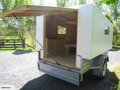 Camping With Kids Checklist Travel Trailer Storage, Small Camping Trailer, Slide In Camper, Camper Trailer For Sale, Build A Camper, Mini Camper, Camper Caravan, Cargo Trailer Camper, Homemade Trailer