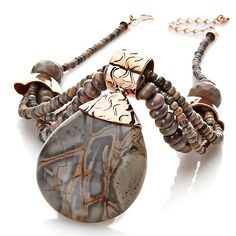 "Jay King Stella Stone Copper Drop 18"" Necklace"