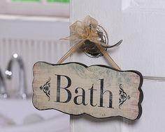 Bath Sign -- Vintage Reproduction