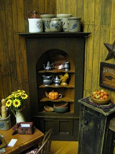Miniature Dollhouse Country Kitchen, via Flickr.
