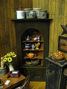 Miniature Dollhouse Country Kitchen, via Flickr.