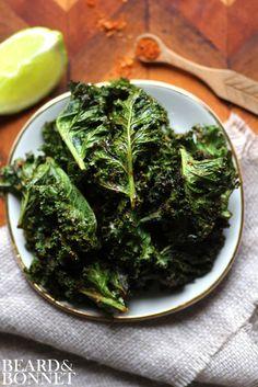 Taco Spiced Kale Chips {Beard and Bonnet} #glutenfree #vegan