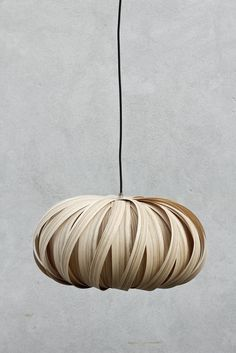 """flaco Pendant -- this looks very natural, and would be a great lamp for """"Nature Style"""" (among others). I also love the pumpkin shape, very similar to a thin pine veneer lamp I have"""