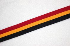 Cheerleader athletic  trim black  gold scarlet  red 1.5 inches wide even stripe.  BTY by DancewearByDiana on Etsy