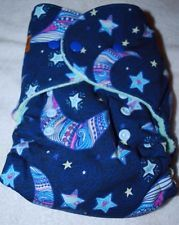 BubbyBums Moon & Stars One Size Fitted Cloth Diaper