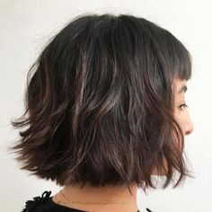 Dark Brown Layered Bob
