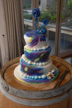 My wedding cake - so pretty and amazing - paua themed to suit our waiheke island beach wedding Cupcake Cakes, Cupcakes, Waiheke Island, Paua Shell, Island Beach, Fancy Cakes, Aga, Airbrush, Rainbow Colors