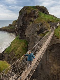 Carrick a Rede Rope Bridge - Northern Ireland #travel #Ireland