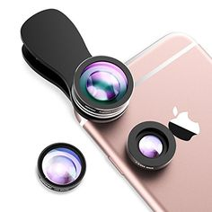 Mpow Fisheye in 1 Clip-On 180 Degree Supreme Fisheye Lens + Wide Angle Lens + Macro Lens for iPhone XS Samsung Plus HTC and other Smartphone Iphone 8, Iphone Lens, Samsung Note 3, Ipad Air 2, Windows Phone, Galaxy S3, Smartphone, Applications Android, Android