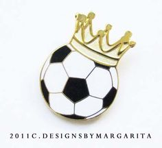 This is another girls soccer pin design for my grandaughter's club soccer by  designsbymargarita.com
