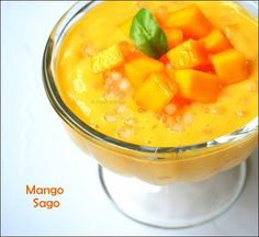 You will definitely enjoy this delicious dessert of chilled mango sago pudding.You will never forget this yummy Chilled Mango Sago Pudding recipe which gives to you. Mango Sago Recipe, Sago Pudding Recipe, Mango Pudding, Kheer Recipe, Pudding Recipes, Mango Desserts, Asian Desserts, Delicious Desserts, Dessert Recipes