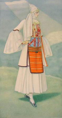 #42 - Peasant Woman's Costume (N. Epirus, Dryinoupolis)