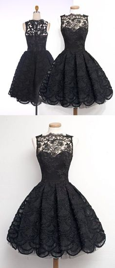 2016 homecoming dress, black lace homecoming dress, vintage homecoming dress…