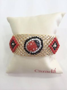 Bracalet silver 925*** with coral, onyx and white agate.
