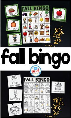 Play Bingo with your elementary age students for a fun fall themed game! Perfect for large groups in Fall Party Games, Fall Games, Autumn Activities, Activities For Kids, September Activities, Halloween Activities, Fall Harvest Party, Harvest Party Games, Back To School Night
