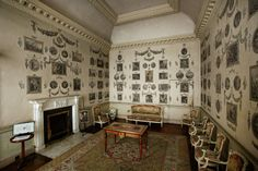 18th century print room, Castletown House, Ireland...  From...  http://thelittlebookofluxury.netaffinity.com/pages/properties-list.php?item_id=16#!prettyPhoto/2/