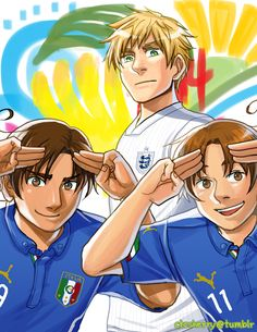 FIFA World Cup 2014: Italy (x2) and England - Art by ctcsherry.tumblr.com