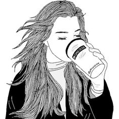 Why do you like Tumblr? I love it because of the deep stuff and the drawings and the people are all very nice. #drawing #drawinggirl #girl #coffee #tumblr #tumblrgirl #tumblrgirls #hair #black #white #deep #cold by tumblr_daydreamergirl